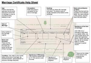 hoja explicativa certificado de matrimonio