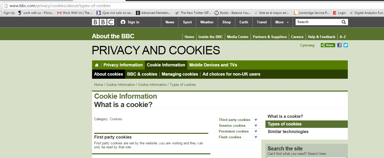traducir políticas de cookies