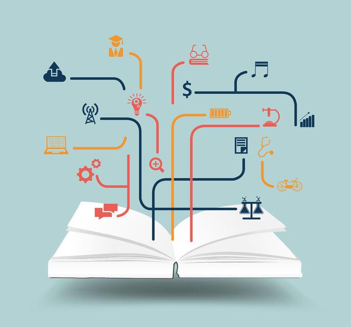Libro abierto para ilustrar los problemas de la traducción de obras editoriales