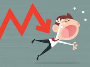 ilustración de una bajada de acciones