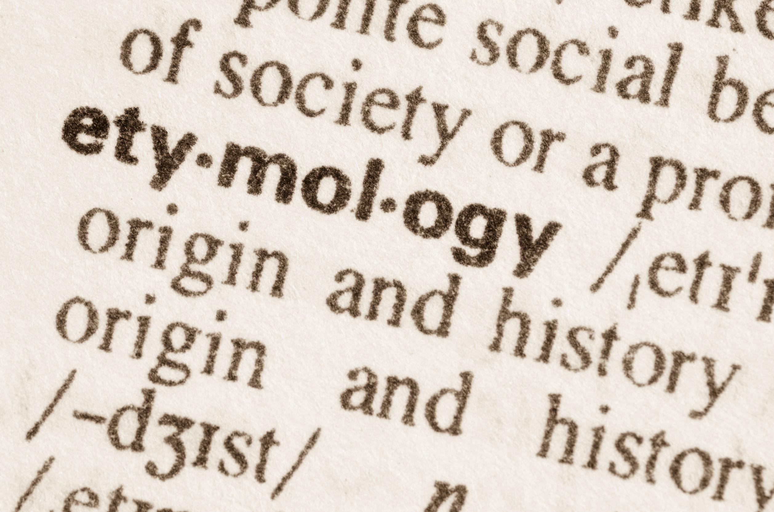 Etimologías curiosas (Parte I)