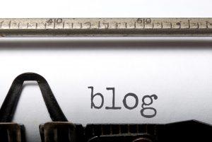 «Blog» en máquina de escribir.