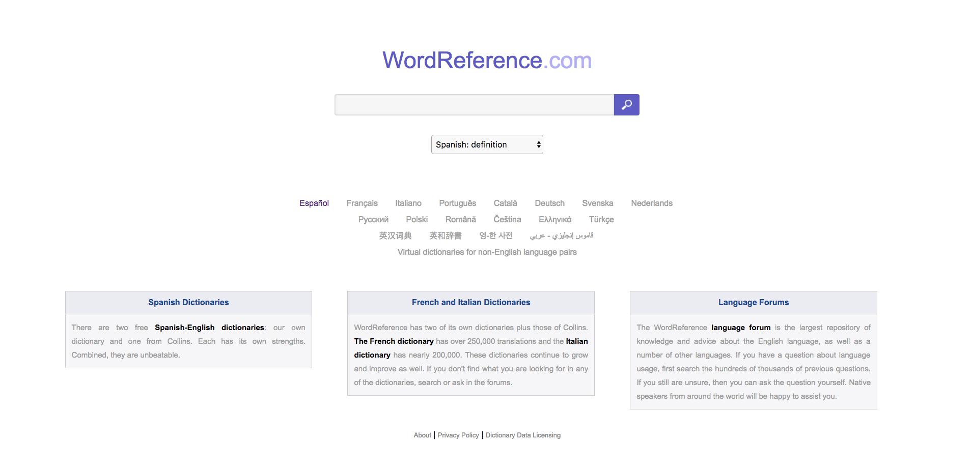 recogida  Definición  WordReferencecom