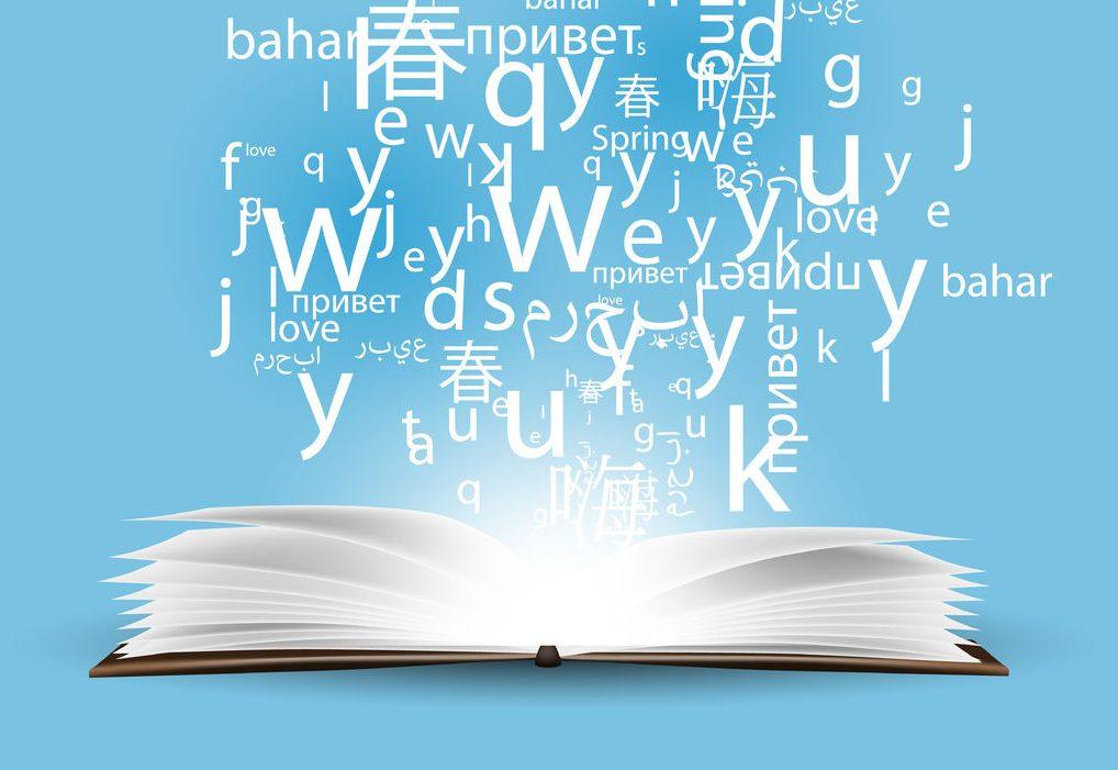 Palabras en varios idiomas.