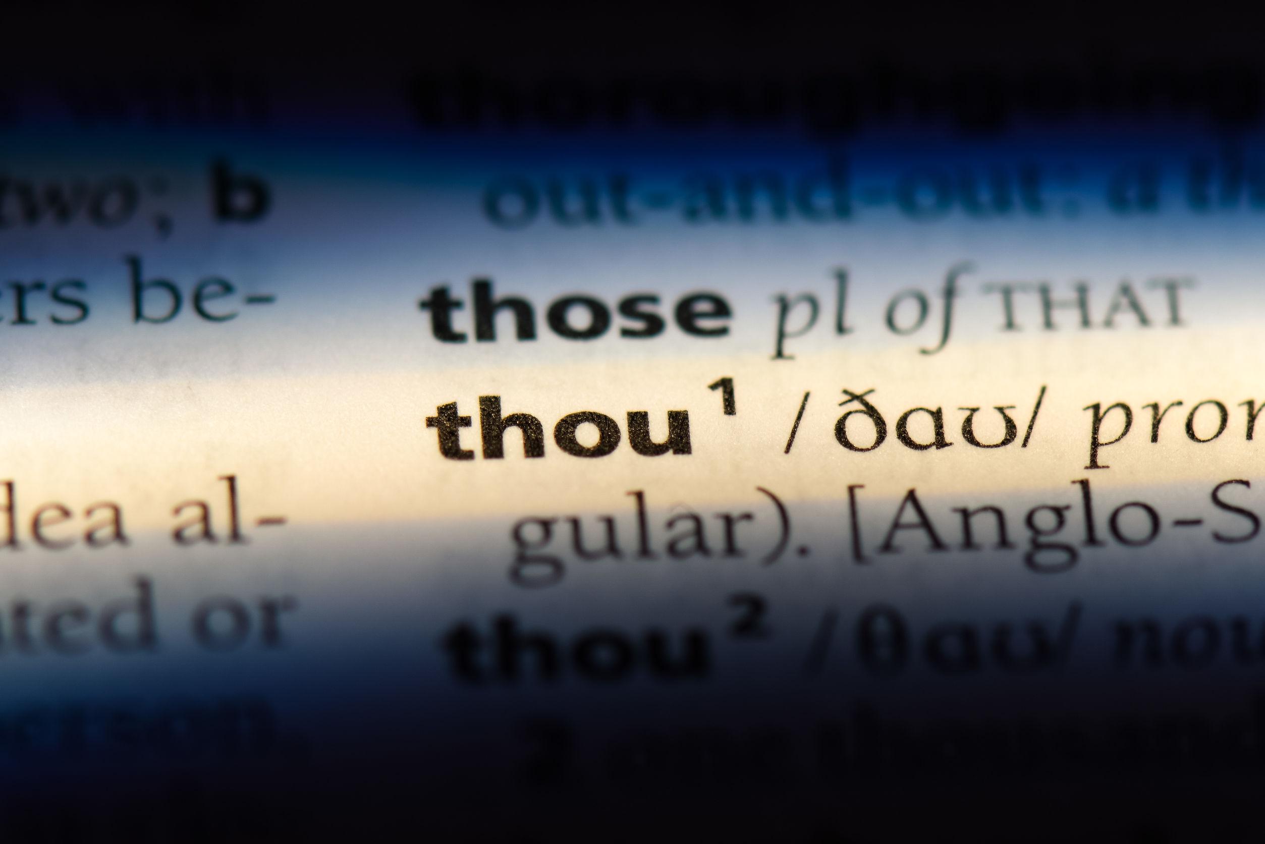 Palabra «thou» en un diccionario.