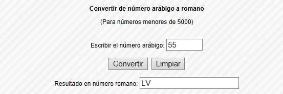 Convertidor numerales