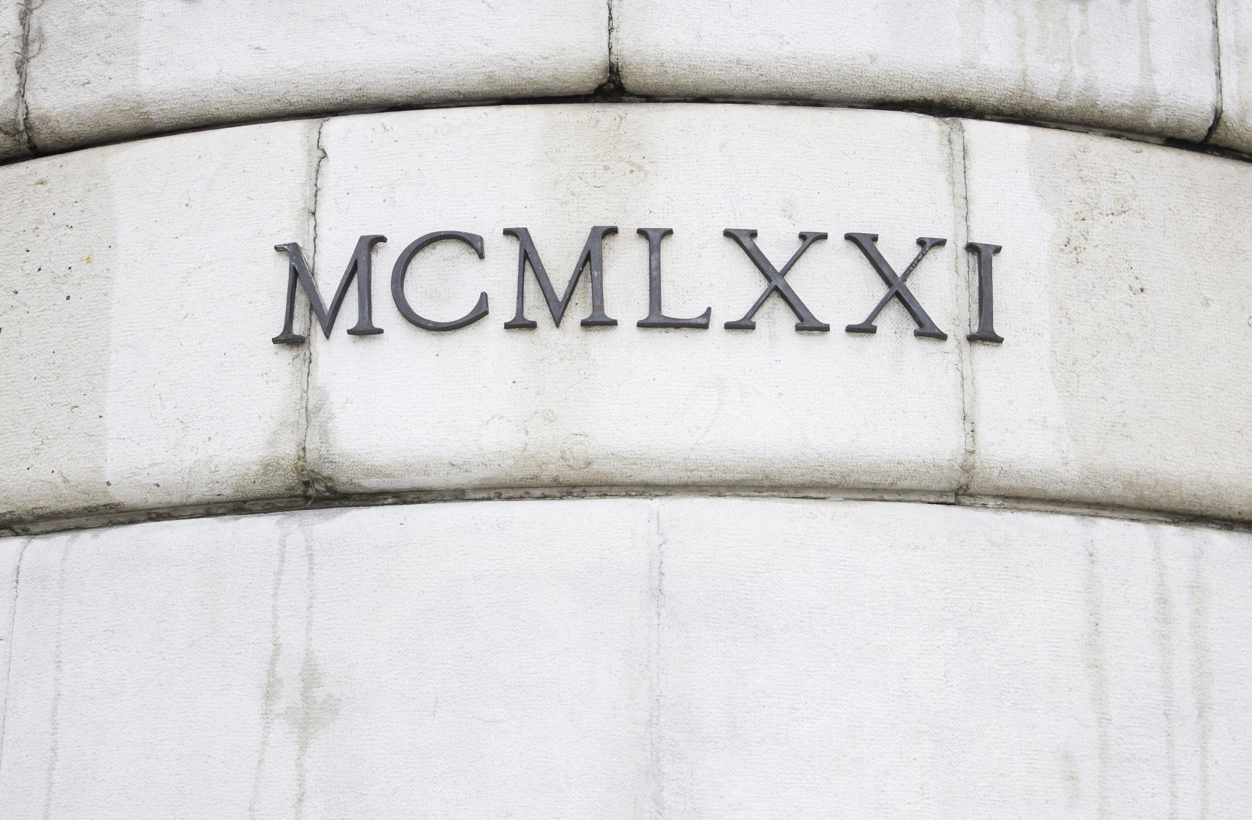 Ortografía de los números romanos