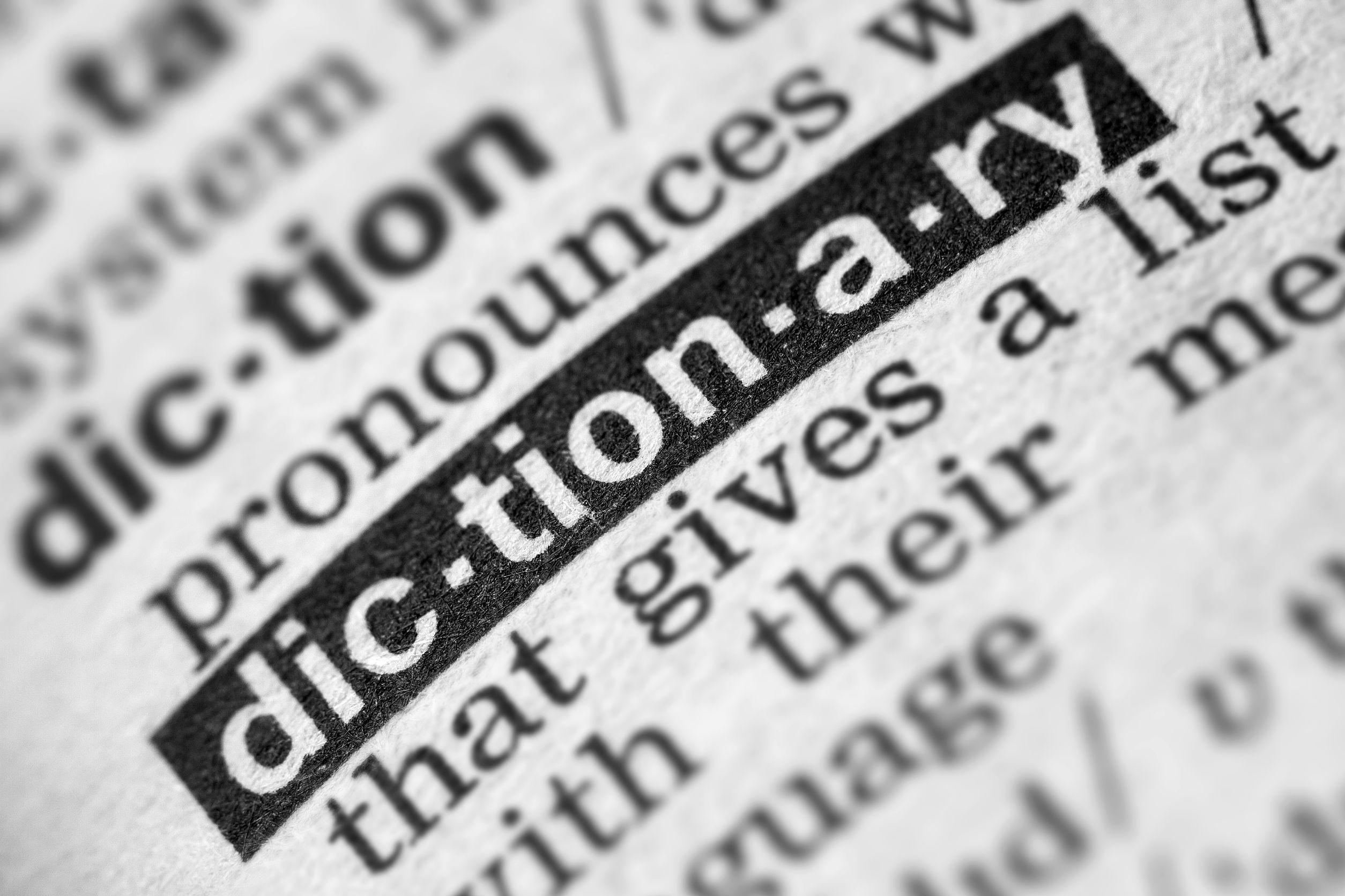 ¿Cómo se clasifican los diccionarios?