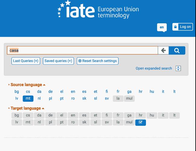 Recursos para traductores IATE